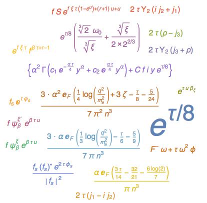 Подставляя Тау равна 2 Pi I в WordCloud