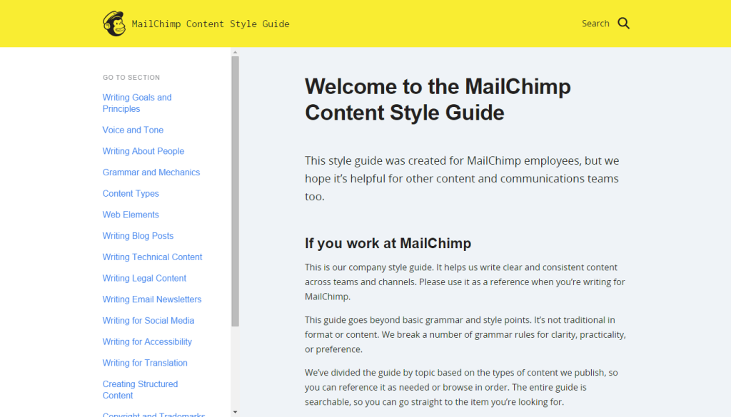 MailChimp Content Style Guide
