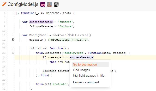 Навігація в JavaScript-код
