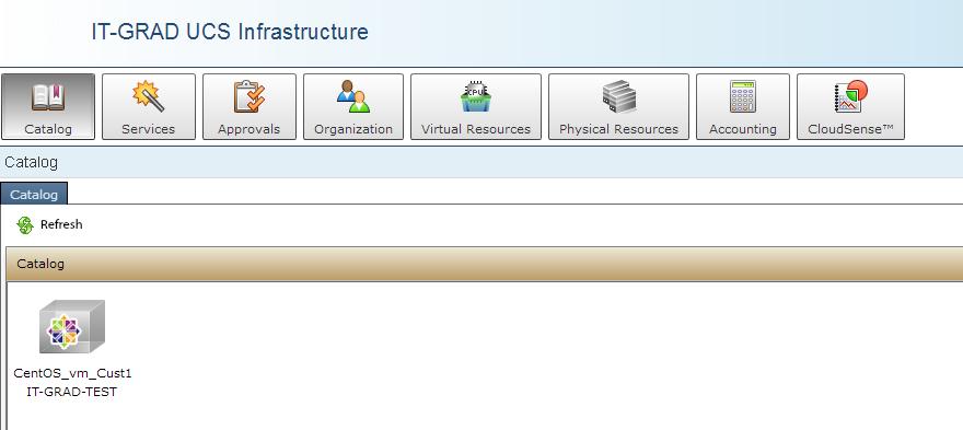 Self-Service Portal Interface