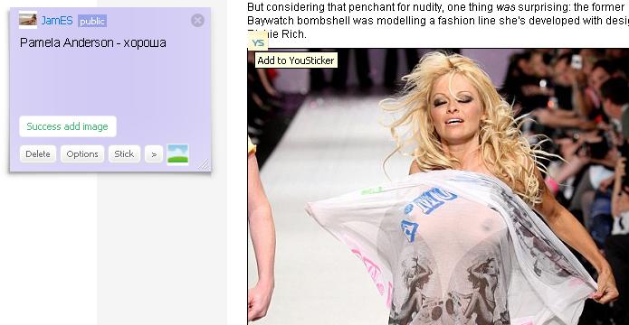 YouSticker Pamela Anderson