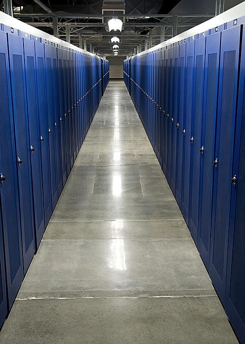Locked server racks in Fremont-II 2