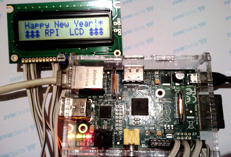 Новогодняя малина — прикручиваем экран HD44780 к Raspberry Pi