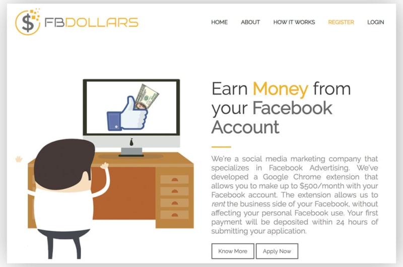 Пользователи Facebook сдают свои аккаунты в аренду, получая деньги и бесплатные ноутбуки