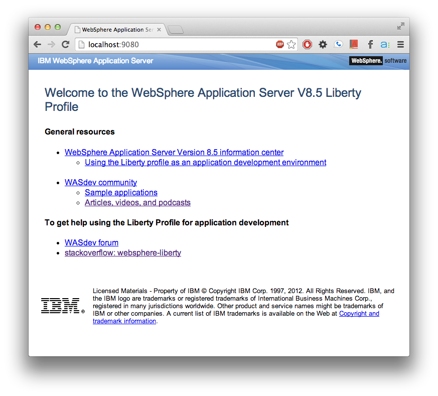 WebSphere Application Server Liberty Profile