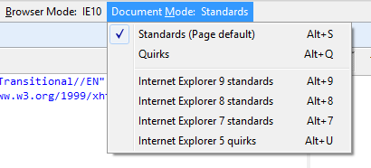 document mode