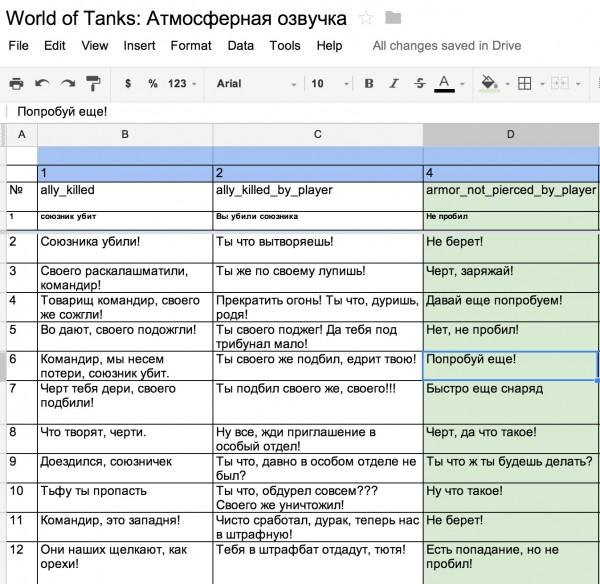 World of Tanks - Атмосферная озвучка