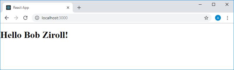 аница, разметка которой сформирована средствами JSX и JavaScript