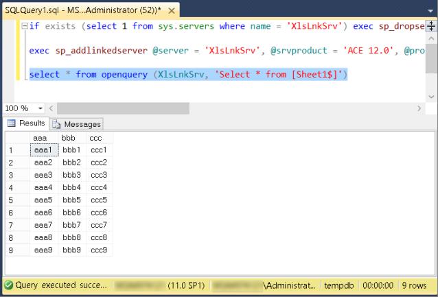 32-битный Excel и 64-битный SQL Server / Хабр