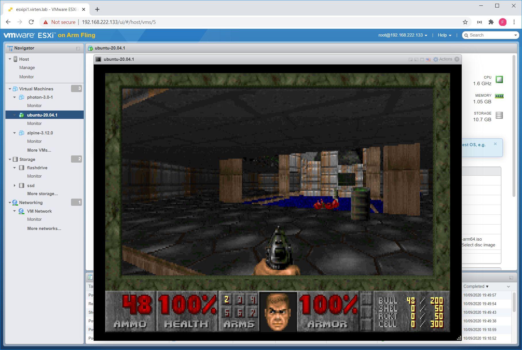 Перевод Играем в Doom в среде VMware ESXi на Raspberry Pi