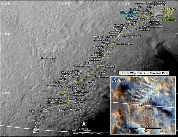Очередное достижение Curiosity: выход из области посадочного эллипса