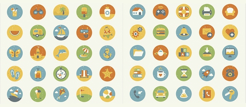 Summer and Essentials Icon Sets
