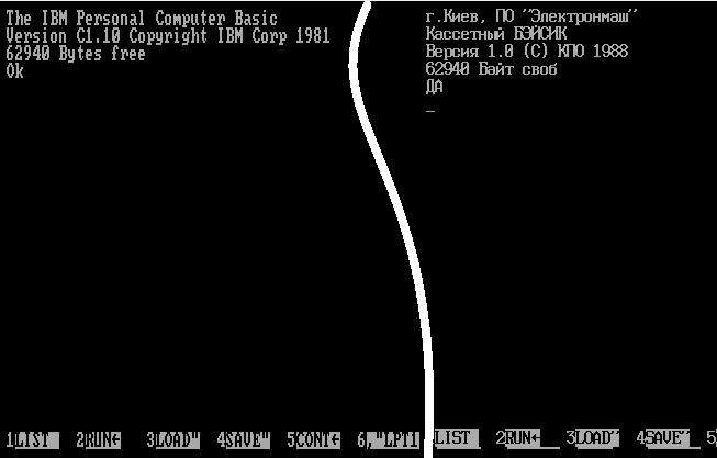 в ПЗУ компьютера IBM PCjr.
