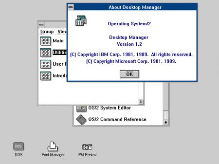 Единообразие интерфейса OS/2 & Win3.0