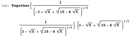 Clearing denominators