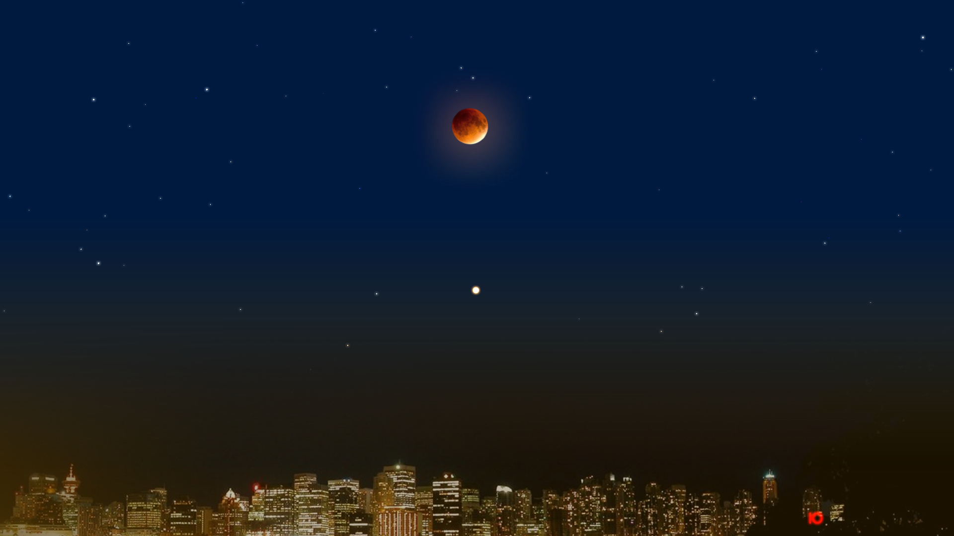 27 июля 2018 года - полное лунное затмение и великое противостояние Марса