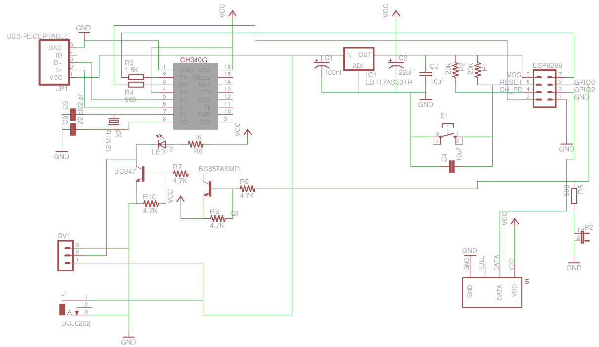 Многофункциональный датчик температуры/влажности на ESP8266 или еще один шаг к «интернету вещей»