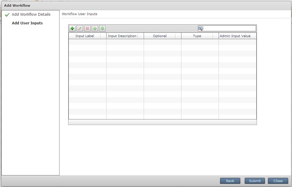 Workflow User Inputs