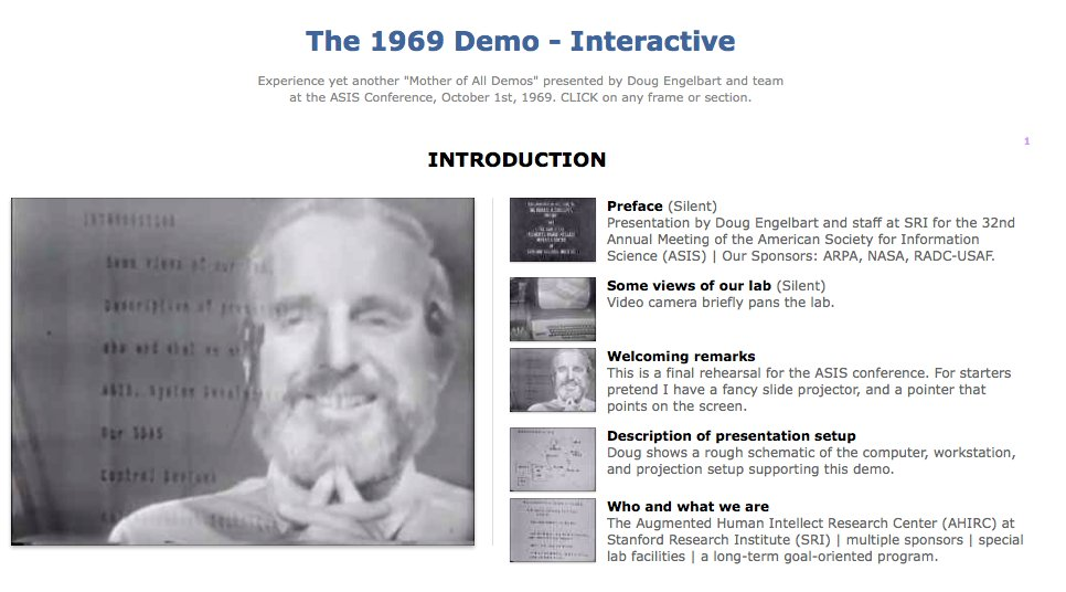 Bret Victor: A few words about Douglas Engelbart
