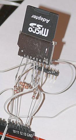 SD card read/write Этот пример
