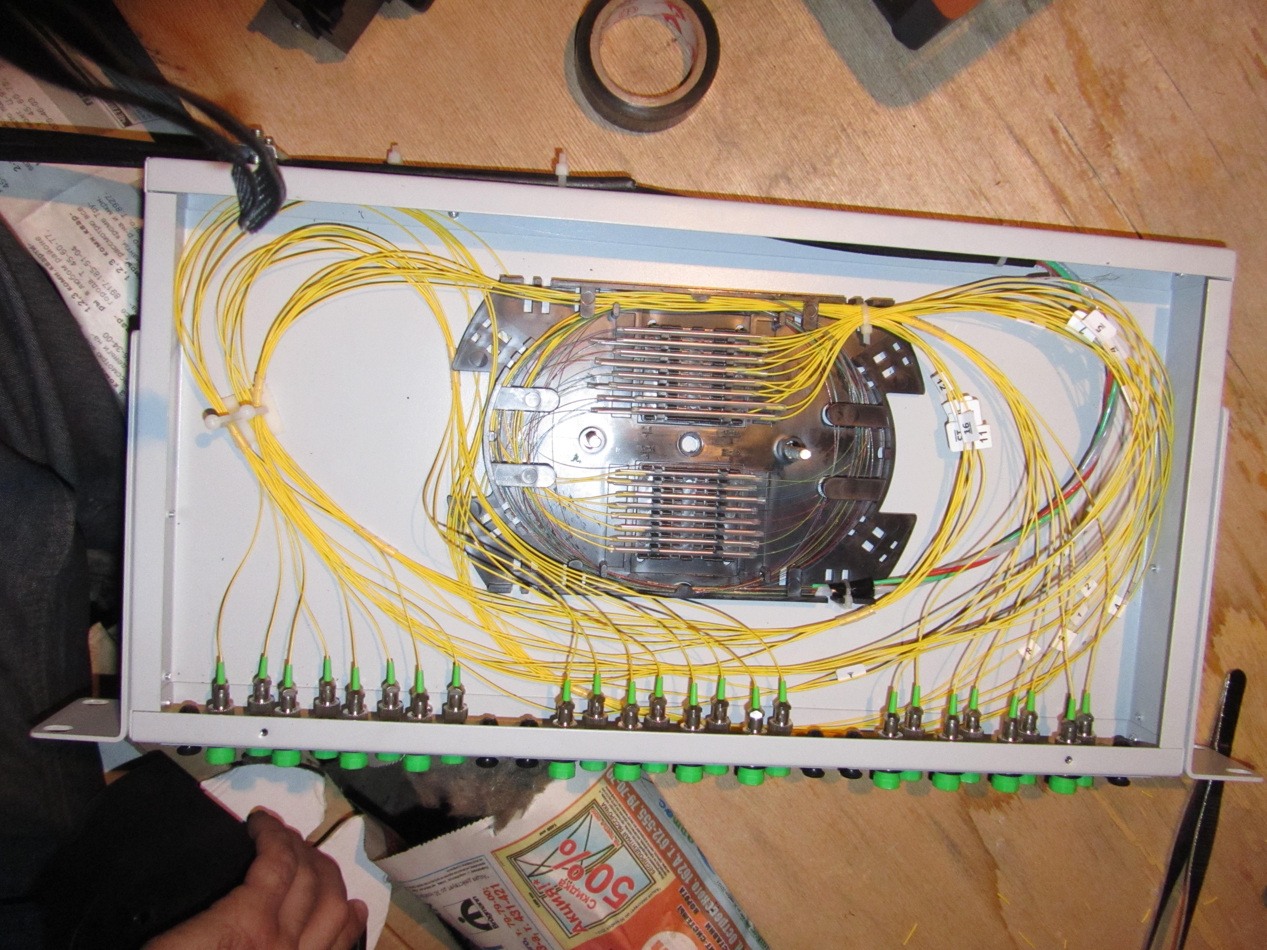 монтаж оптического волокна в сплайс кассеты инструкция