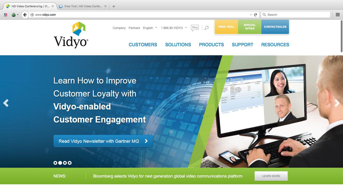сторінка на сервісі Vidyo