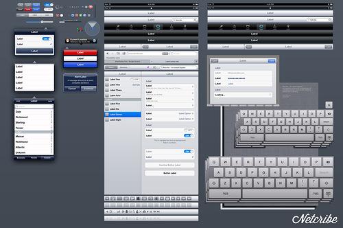 Netcribe: iPad Retina GUI PSD