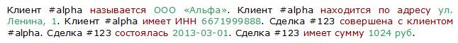 Информация, кодированная в виде триплетов RDF
