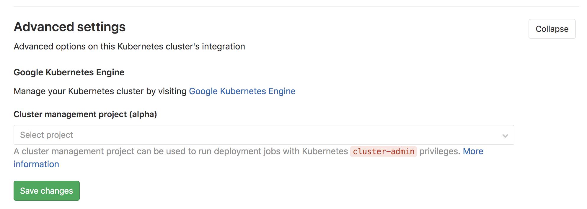 CI-based cluster application management