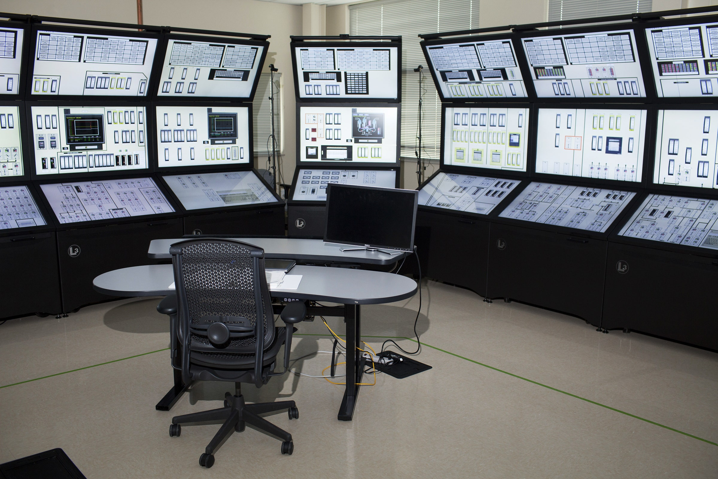 Комната управления в здании национальных лабораторий Айдахо