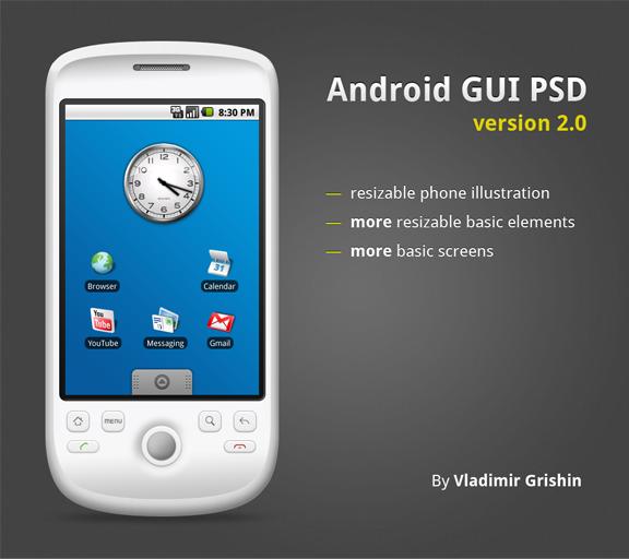 Android GUI PSD v. 2.0