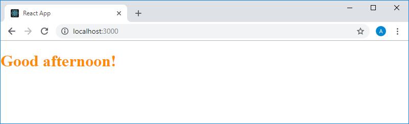 Стилизованный текст, выводимый на страницу компонентом