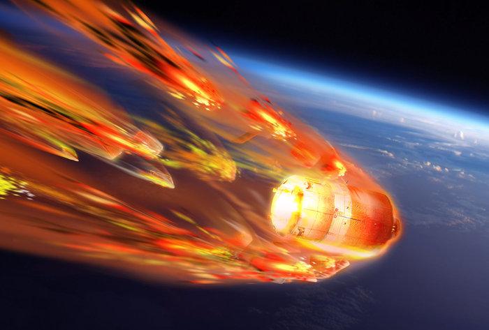 ESA понаблюдает за крушением космического аппарата в атмосфере Земли изнутр ...