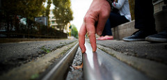 Fingers on the rails