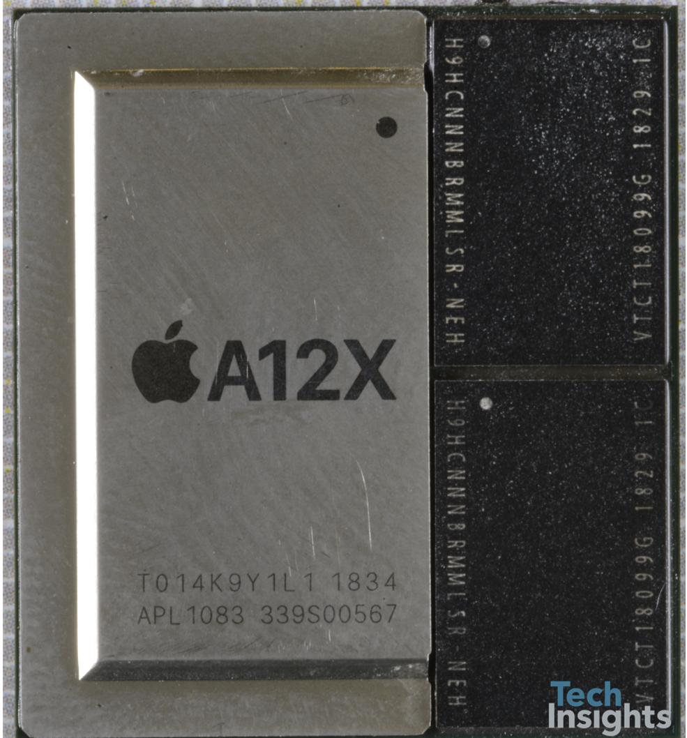 Очень странный корпус микропроцессора A12X от Apple