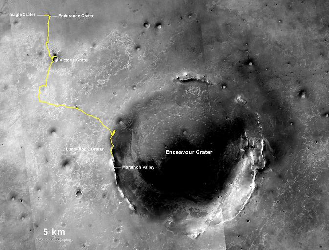 По мнению NASA, Opportunity стал рекордсменом по пробегу среди всех внеземных космических аппаратов