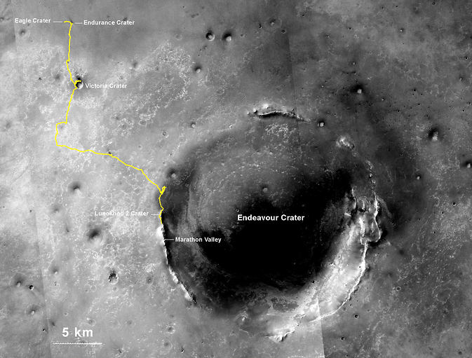 По мнению NASA, Opportunity стал рекордсменом по пробегу среди всех внеземн ...
