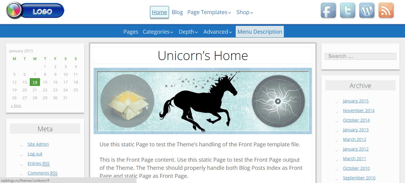 дочірня тема WordPress