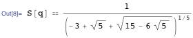 Simplified version of the equation