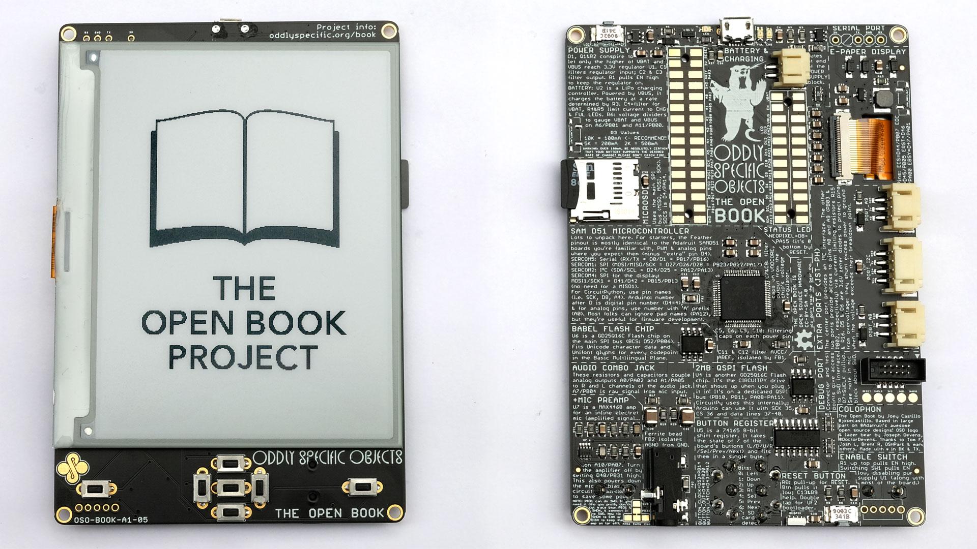 Open Book проект по сборке свободного eReader с паяльником в руках