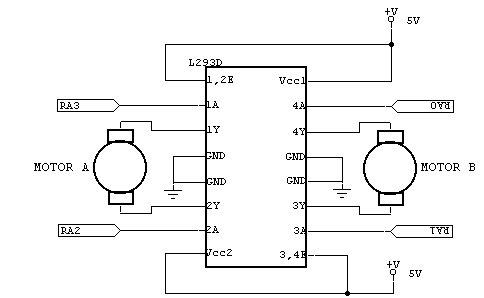 Рис. 9 Подключение L293D.