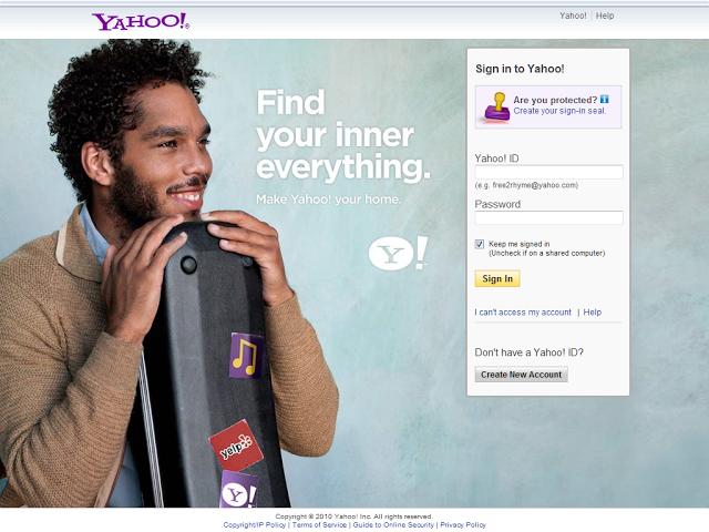 Yahoo!  login page # 2