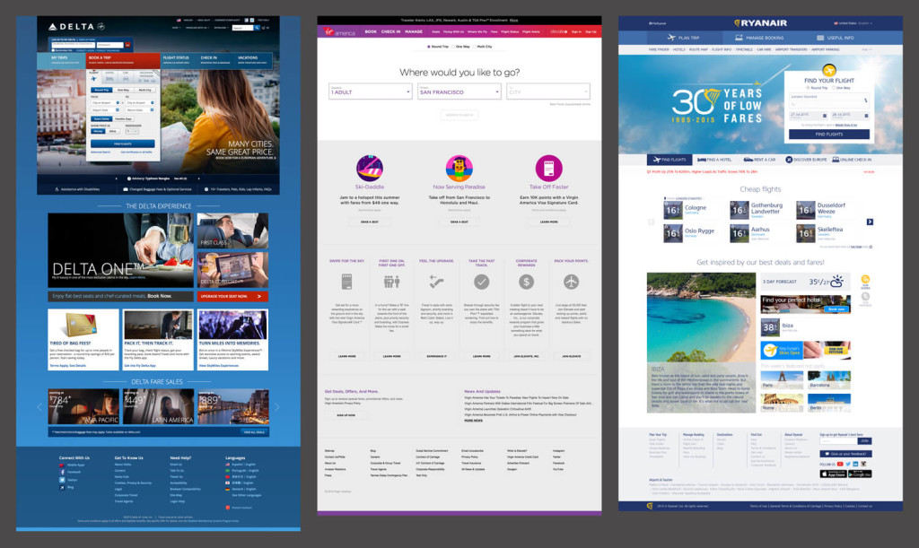 The State Of Airline Websites 2015 — Lessons Learned