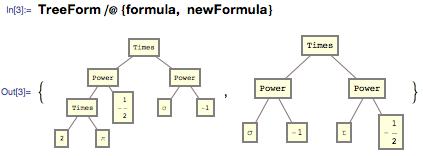 Использование TreeForm смотреть на двух разных выражений