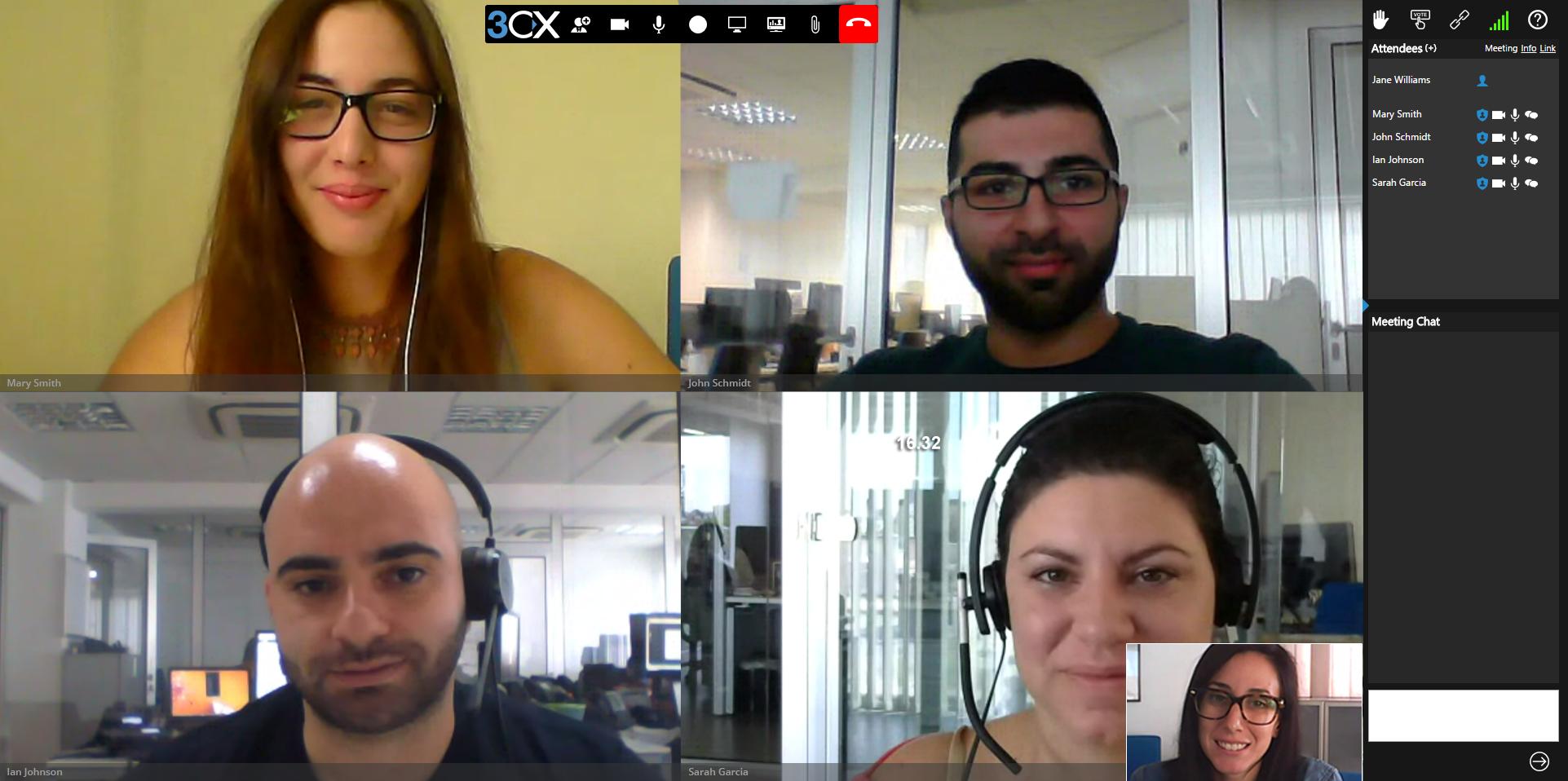 Видеоконференции 3CX в браузере
