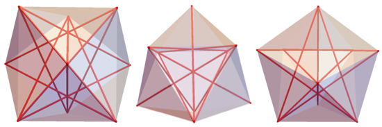 Views of 9-BLP with the red tubes showing unit-length diagonals