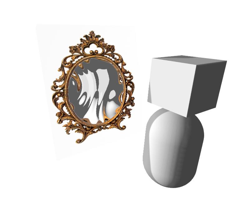 Потёки на стекле и кривое зеркало