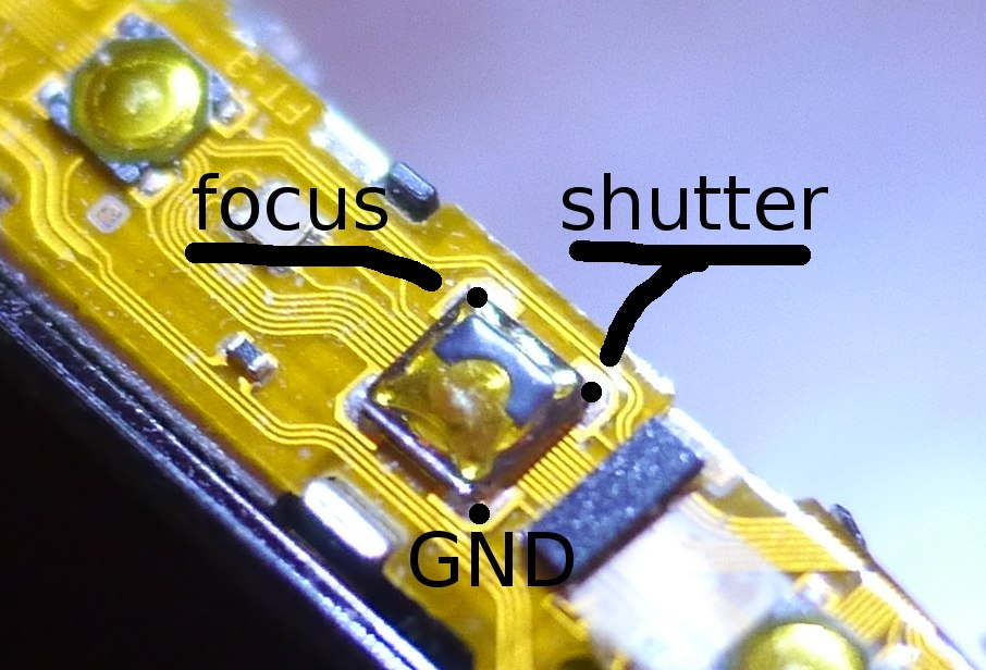 Sony TX55 pinout shutter button