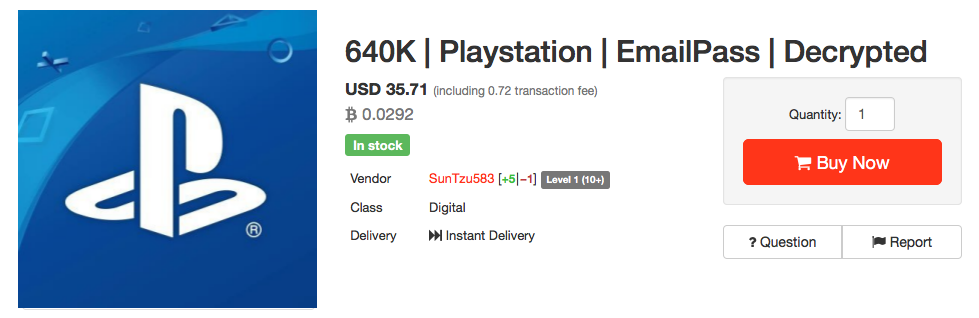 Хакер выставил на продажу 640 тысяч украденных аккаунтов пользователей PlayStation
