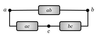 Граф в виде электрической цепи
